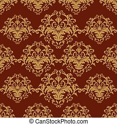 Seamless pattern terracotta background Damascus.eps