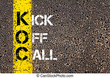 empresa / negocio, siglas, KOC, como, kickoff, llamada,