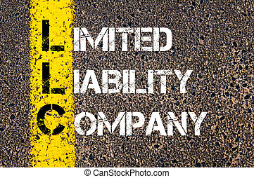 Business Acronym LLC as Limited Liability Company - Business...