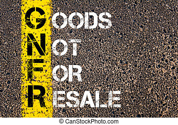 Business Acronym GNFR as Goods Not For Resale