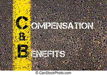 Business Acronym C&B as Compensation and Benefits - Business...