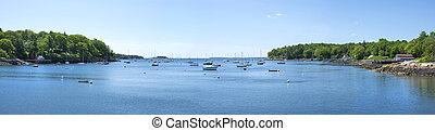 Rockport harbor panoramic - Beautiful panoramic of Rockport...