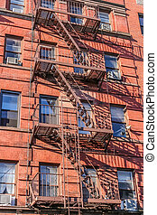 New York fire stairs