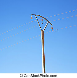 utility pole in africa morocco energy and distribution pylon...