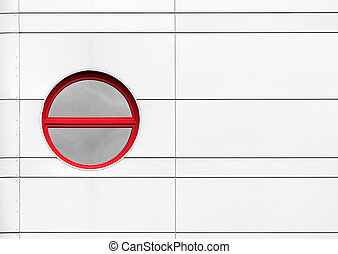 Rounded window as abstract architecture detail