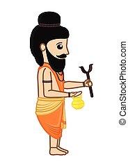Cartoon Indian Saint Character