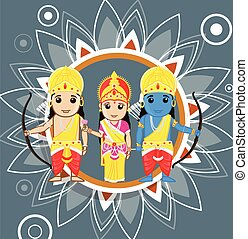Ram Navami - Hindu Festival Vector Illustration