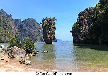 Ko Tapu Thailand - Ko Tapu or James Bond Island, Thailand...