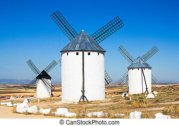 Castilla La Mancha - Traditional windmills of Castilla La...