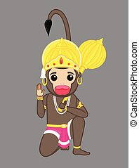 Indian God of Power - Lord Hanuman
