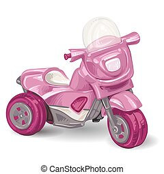 Kids tricycle on white background