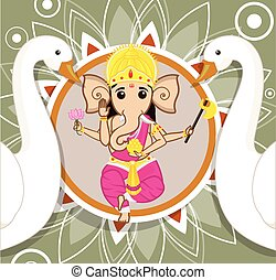 Ganesh Chaturthi - Lord Ganesha Vector Illustration