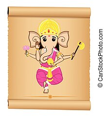 Lord Ganesha Vector Illustration