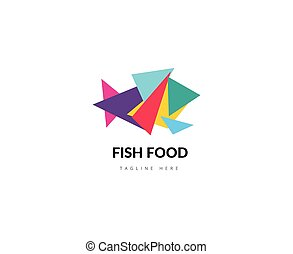 Abstract vector element. Fish food logo template. Stock...