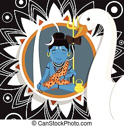 Concentrating Lord Shiva Vector Illustration