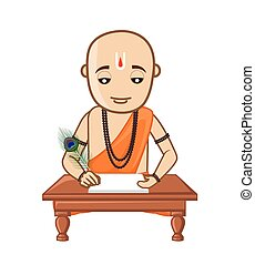 Saint Tulsidas Vector Illustration - Cartoon Saint Tulsidas...