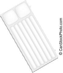 Air mattress in white design