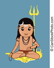 Gorakh Naath Vector Illustration - Cartoon Gorakh Naath...