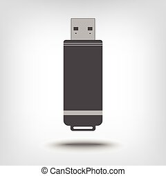 USB flash drive icon as a concept