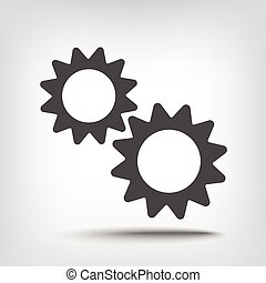 Gears pinion icon as a concept