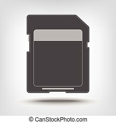 SD memory card icon as concept