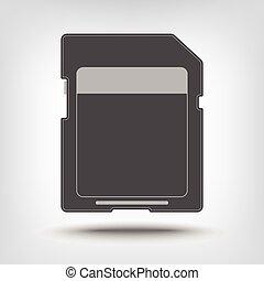 SD memory card icon as concept