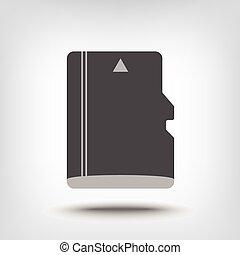 SD memory card icon - Micro SD memory card icon as concept