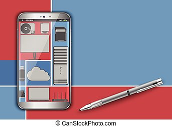 Smart phone in the cloud