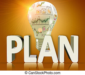 Planning concept - Word plan as a business concept