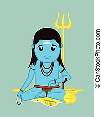 Baba Balaknath - Cartoon Character Vector Illustration