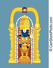 Indian God - Baala Ji Vector Illustration