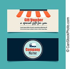 Gift coupons with Business concept, Infographics background....