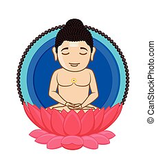 Lord Mahavira - Indian Saint God Vector Illustration