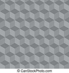 abstract seamless geometric pattern 3 D illusion - vector...