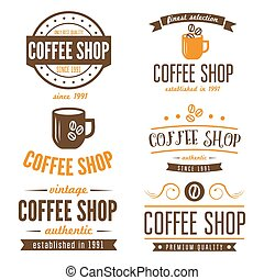 Set of vintage labels, emblems, and logo templates for...