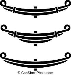 vehicle leaf spring black symbols - illustration for the web