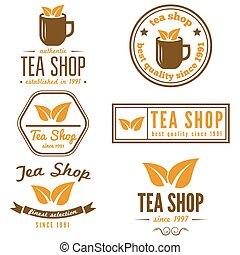 Set of vintage labels, emblems, and logo templates for...