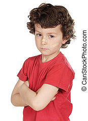 child abuse - a child abuse a over white background