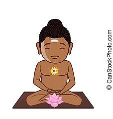 Lord Mahavira - Meditation Vector Illustration