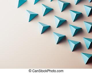 Extracto, Plano de fondo, el consistir, de, Tetraedros,