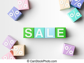 sale - multicolored blocks with sale word written on them...