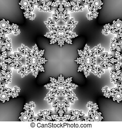 Seamless monochromatic fractal with spider texture -...