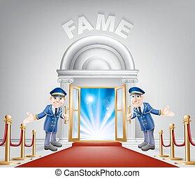 Fame Red Carpet Entrance - Fame door concept of a doormen...