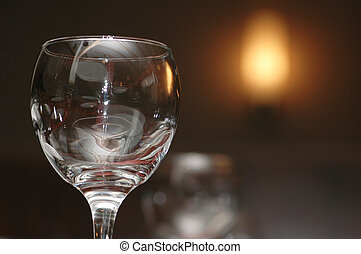 Glass and blurred light at the background - Glass and...