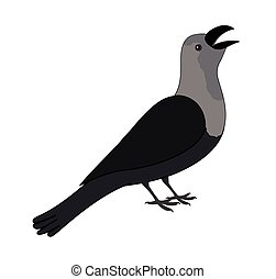 Cartoon Crow Clipart