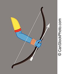 Bow Arrow Vector Illustration - Bow Arrow Vector - Hindu...