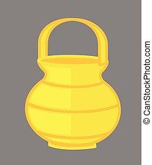 Kamandal - Golden Sage Jar Vector Illustration