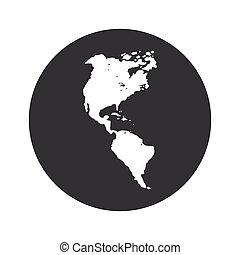 Monochrome round America icon