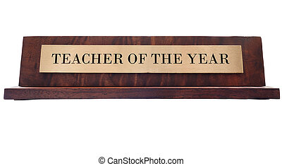 Teacher name plate - Wooden nameplate with Teacher of the...