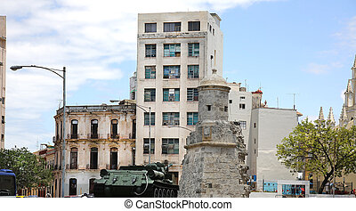 Plaza 13 de Marzo Havana Cuba - Plaza 13 de Marzo with the...
